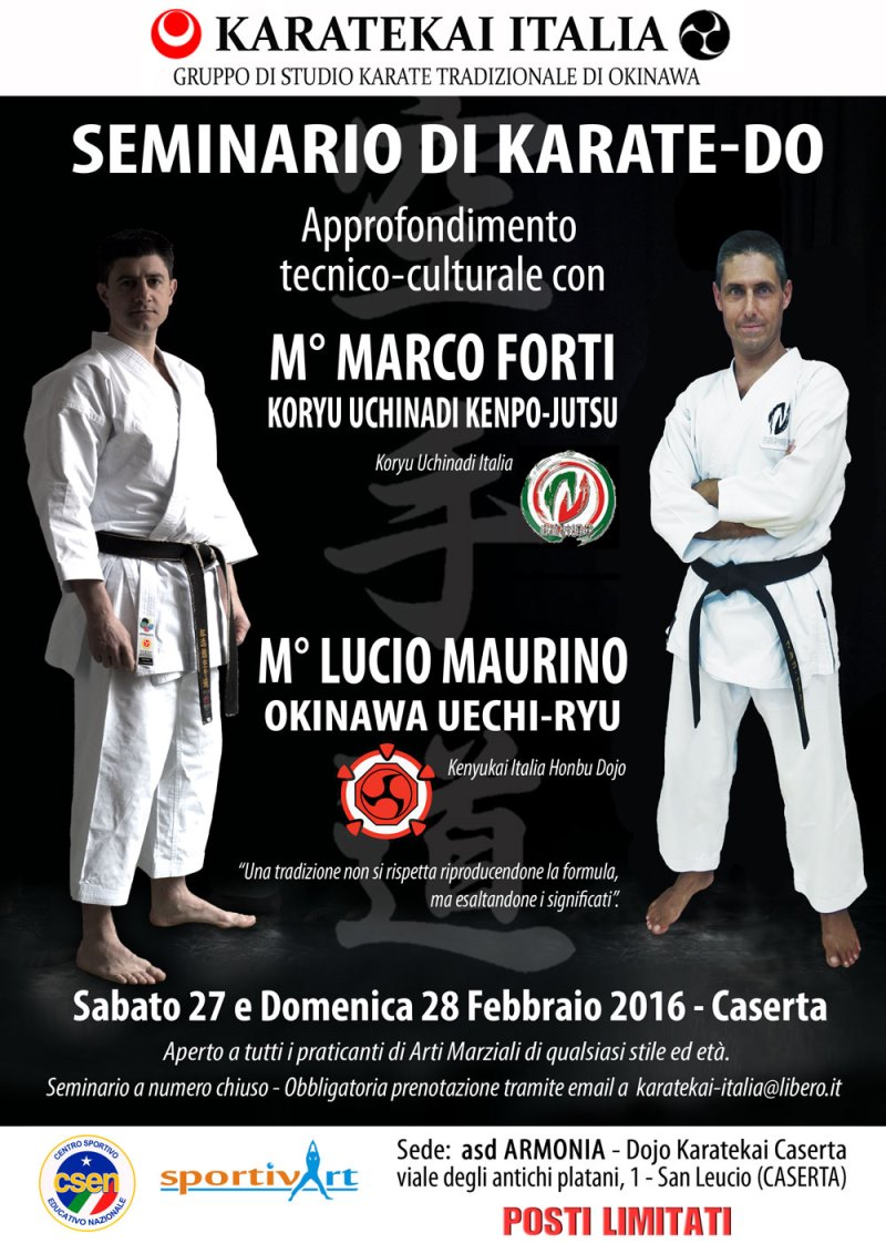 Stage di karate-do a San Leucio (CE)