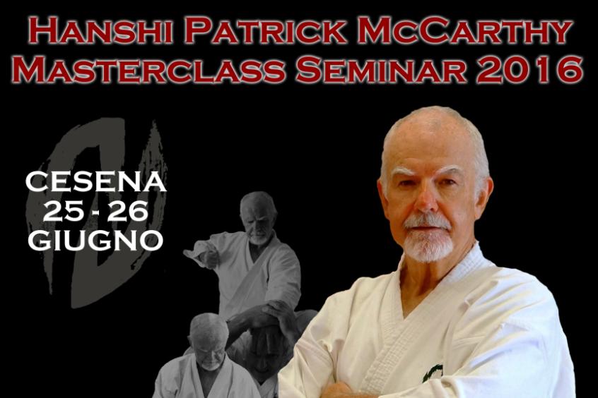 Masterclass Seminar 2016 con Hanshi Patrick McCarthy a Cesena