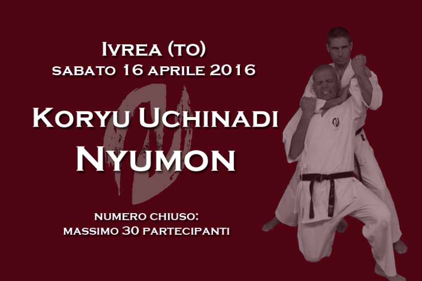 Koryu Uchinadi Nyumon - Seminario a Ivrea