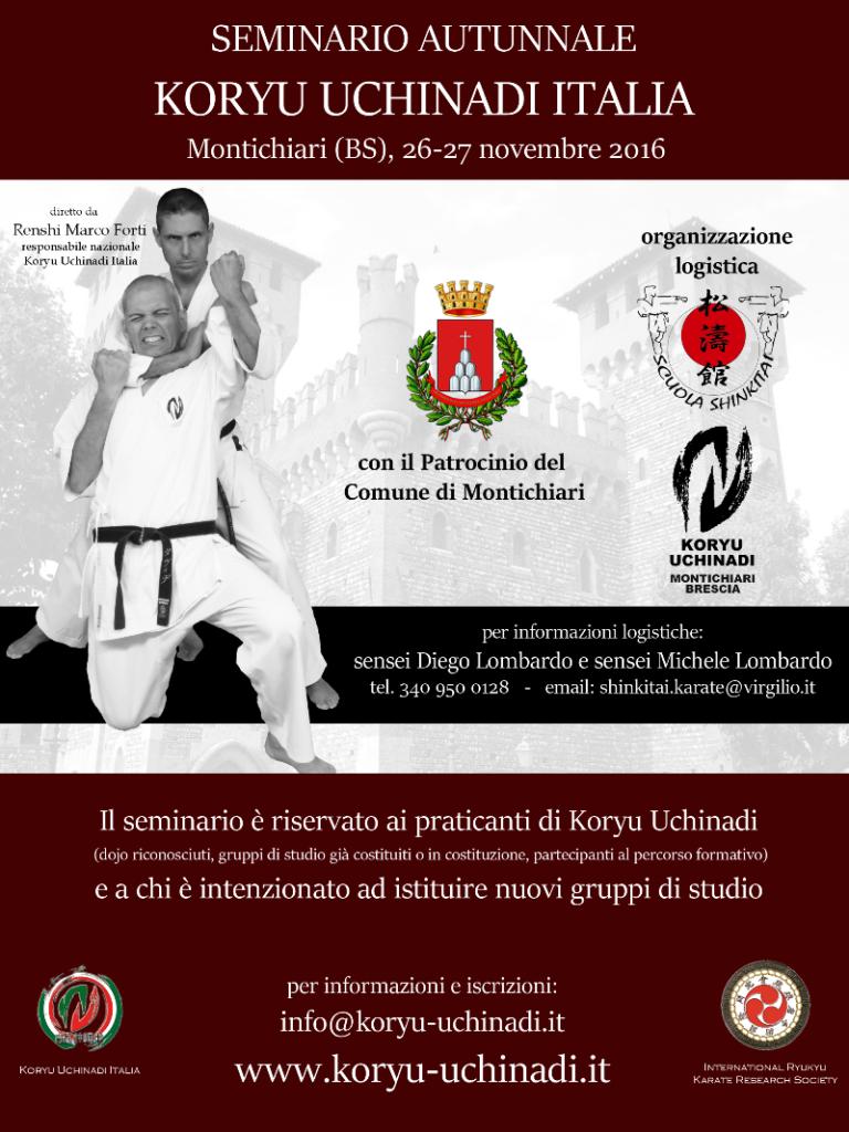 Seminario Autunnale Koryu Uchinadi Italia 2016