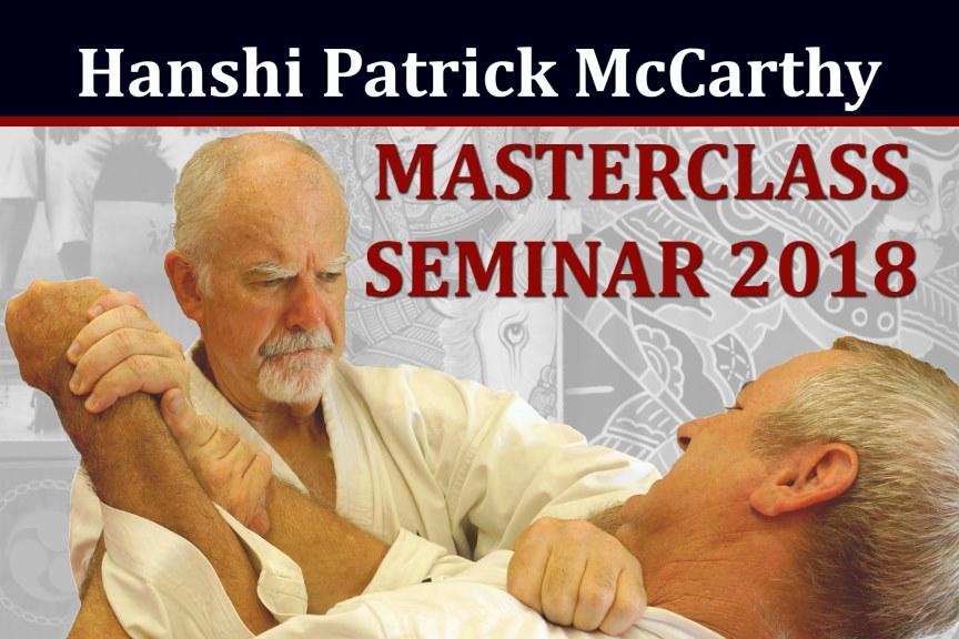 Masterclass Seminar 2018 con Hanshi Patrick McCarthy