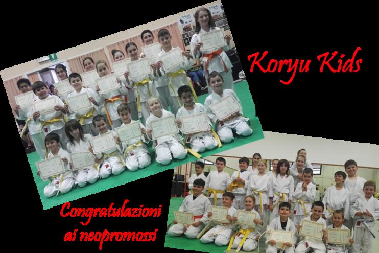 Koryu Kids: esami per il passaggio di Kyu