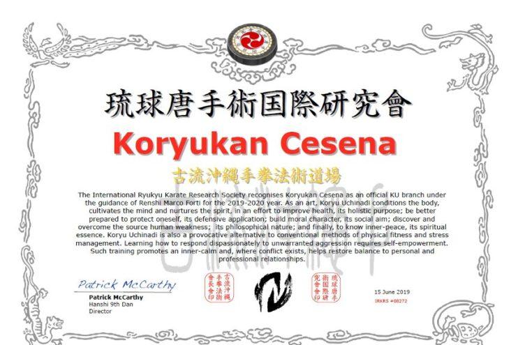 Koryukan Cesena: shibu dojo IRKRS 2019-2020