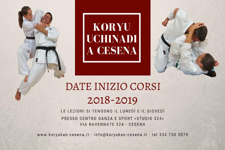 Koryu Uchinadi Cesena - Date di inizio corsi 2018-19