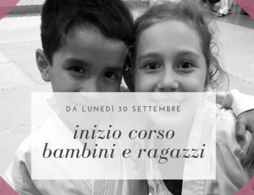 Inizio corso bambini e ragazzi 2019-2020