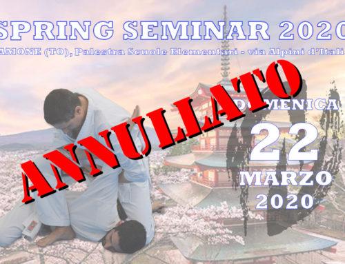 Spring Seminar 2020 – ANNULLATO