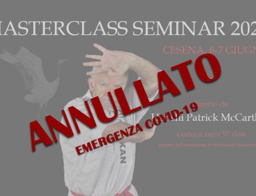 Masterclass Seminar 2020 – ANNULLATO